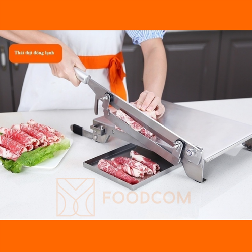 Combo Dao chặt gà, thái thịt đông lạnh - Bản Đặc Biệt + Mài dao chuyên dụng Foodcom