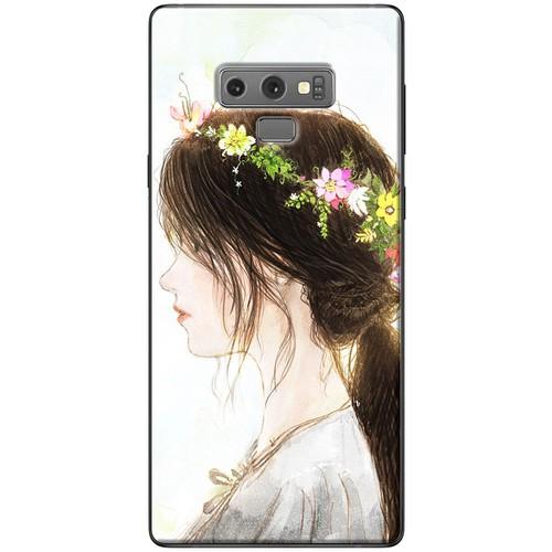 Ốp lưng nhựa dẻo Samsung_Note_9 Vòng hoa