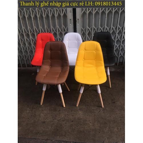 Ghế nhựa chân gỗ thanh lý giá rẻ sỉ và lẻ
