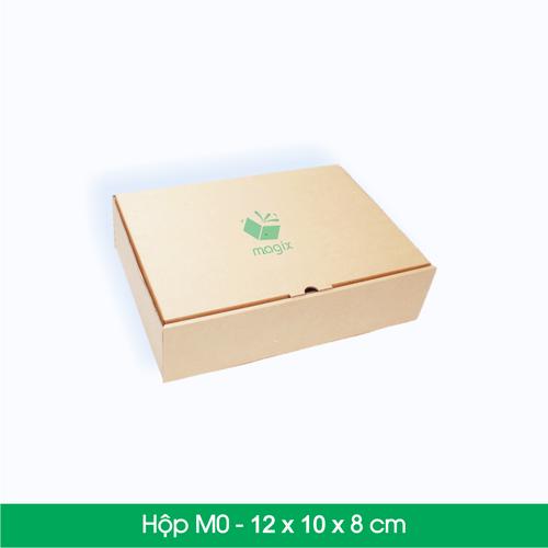 100 Thùng hộp carton - Mã M0 - Kích thước 12x10x8 cm
