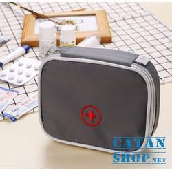 Túi Y Tế CATAN Du Lịch chống thấm nhỏ gọn, túi đựng thuốc tây, kim chỉ, túi cứu thương tiện dụng