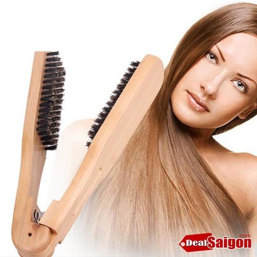 Lược kẹp gỗ chải tóc thẳng KORIA