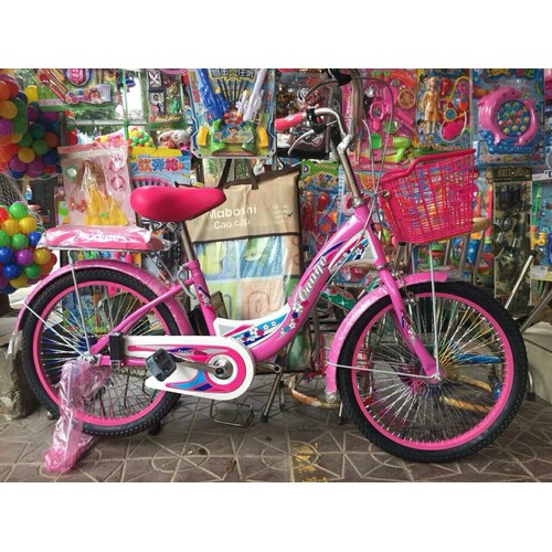 Xe đạp 20 inch thích hợpchocácbétừ 6-10 tuổi.
