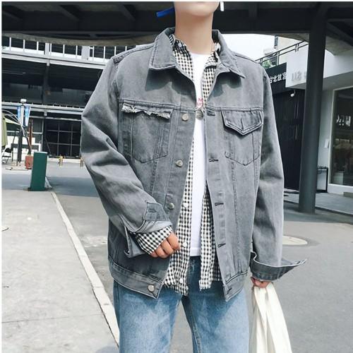 Áo khoác jeans dây kéo hình beer Mã: NK1389 - ĐEN