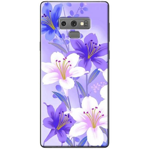 Ốp lưng nhựa dẻo Samsung_Note_9 Hoa trắng tím
