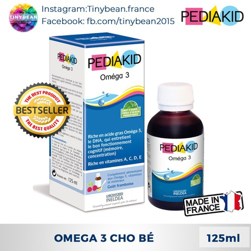 PediaKid Omega 3 Tăng Cường Trí Não Và Thị Lực