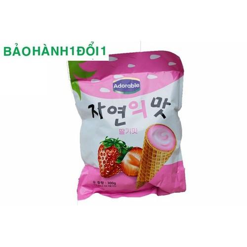 Bánh ốc Quế nhập Korea hương Dâu tây Date 2019