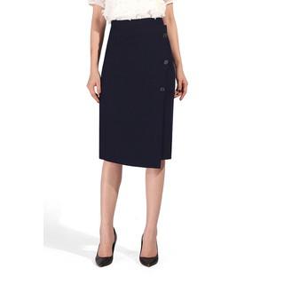 De Leah - Chân Váy Midi Đắp Vạt Lệch - Thời trang thiết kế - Z1825121Tt thumbnail