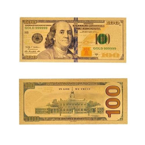 COMBO 2 TỜ TIỀN ĐÔ 100 USD PLASTIC LÀM LÌ XÌ QUÀ TẶNG THU HÚT TÀI LỘC