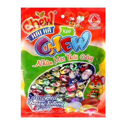 Kẹo Chew nhân mứt trái cây Hải Hà gói 400g
