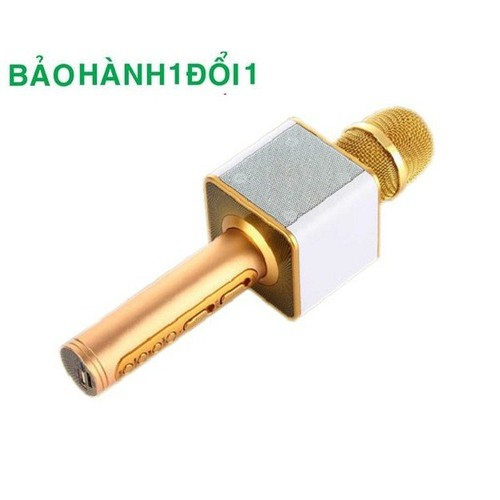Mic Karaoke Bluetooth trang bị đầy đủ các phím chức năng như: Volume, Echo, V+, V-