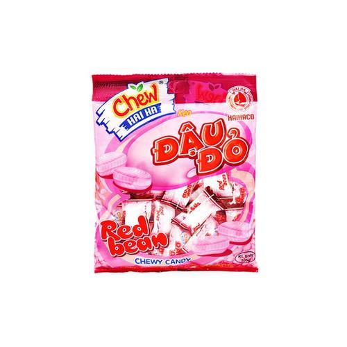 Năm gói kẹo Chew đậu đỏ Hải Hà 105g