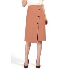 De Leah - Chân Váy Midi Đắp Vạt Lệch - Thời trang thiết kế