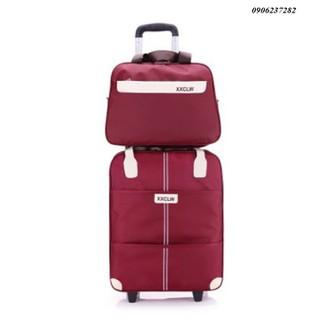 vali-vali du lịch-vali túi kéo-vali túi-vali nhỏ gọn-vali có chân di chuyển-Vali du lịch tay kéo-Vali du lịch tay kéo XXCLW 18inch 35x20x39cm + túi kèm-vaili tặng kèm túi-vali du lịch tay kéo-túi vali-vali du lịch năng động-vali vải- vali cao cấp - RE0357 vali du lịch thumbnail