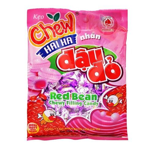 Năm gói kẹo Chew nhân đậu đỏ Hải Hà 125g