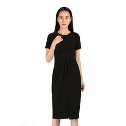 De Leah - Đầm Xoắn Eo Xẻ Trước - Thời trang thiết kế