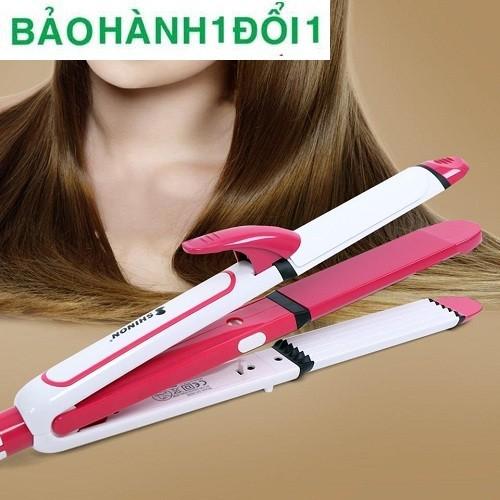 Máy tạo kiểu tóc 3in1 Shinon bạn có thể tạo kiểu uốn lọn, duỗi thẳng, bấm gợn sóng