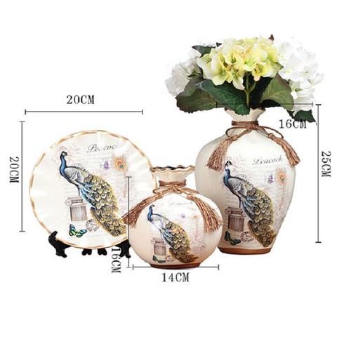 Bộ lục bình tranh đĩa chim Khổng Tước 25cm - 7125878 , 13849852 , 15_13849852 , 650000 , Bo-luc-binh-tranh-dia-chim-Khong-Tuoc-25cm-15_13849852 , sendo.vn , Bộ lục bình tranh đĩa chim Khổng Tước 25cm