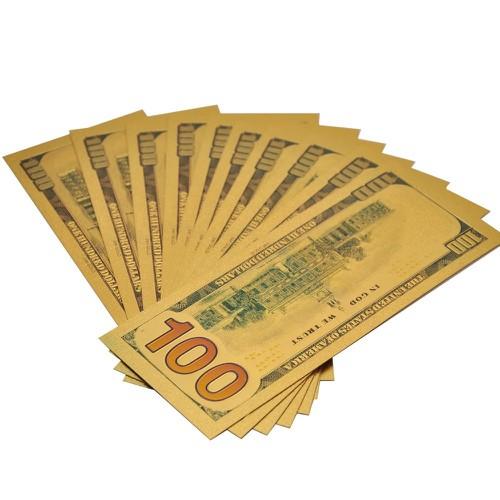 COMBO 10 TỜ TIỀN ĐÔ 100 USD PLASTIC LÀM LÌ XÌ QUÀ TẶNG THU HÚT TÀI LỘC