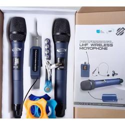 Micro không dây Universal W-15 đẳng cấp cho Loa kéo-xách tay, Mixer, Ampli karaoke