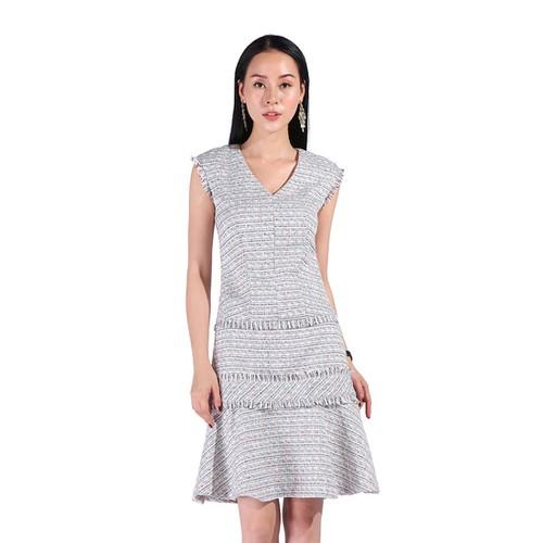 De leah - đầm ôm xoè tweed tua rua - thời trang thiết kế - 18980584 , 13862107 , 15_13862107 , 1300000 , De-leah-dam-om-xoe-tweed-tua-rua-thoi-trang-thiet-ke-15_13862107 , sendo.vn , De leah - đầm ôm xoè tweed tua rua - thời trang thiết kế
