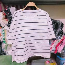 Áo len phom rộng tay lỡ xẻ tà hàng Quảng Châu