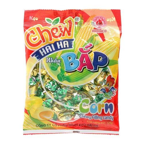 Năm gói kẹo Chew nhân bắp Hải Hà 125g