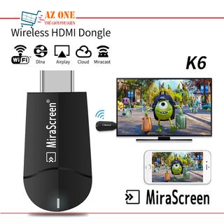 Thiết Bị HDMI Không Dây Kết Nối Điện Thoại Với TIVI FULL HD 4K MiraScreen K6 - MiraScreen K6 thumbnail