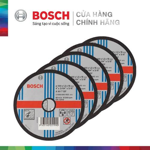 Combo 5 Đá cắt Bosch 100x1.2x16mm - Sắt