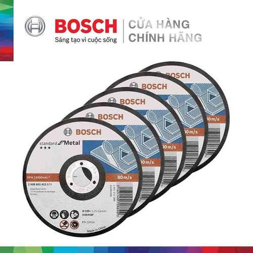 Combo 5 Đá cắt Bosch 105x1.2x16mm - sắt