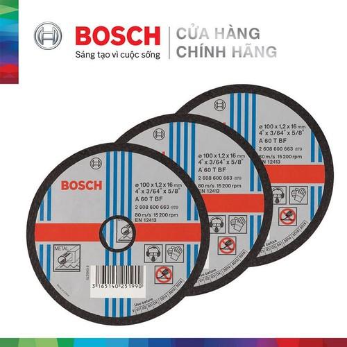 Combo 3 Đá cắt Bosch 100x1.2x16mm - sắt