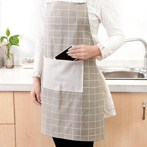 Tạp Dề Nấu Ăn Nhà Bếp Vải May Decor Phong Cách Hàn Quốc