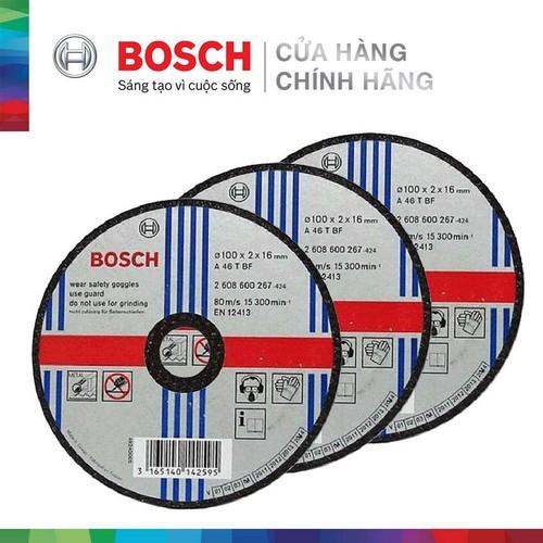 Combo 3 Đá cắt Bosch 100x2x16mm - sắt