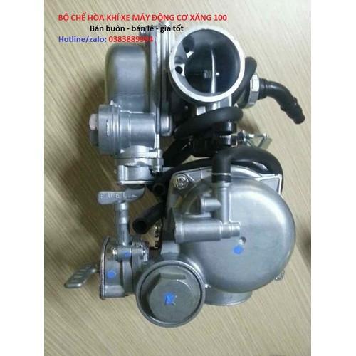 Bộ chế hoà khí xe máy động cơ xăng 100