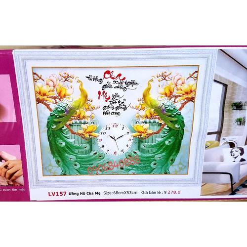 tranh đính đá đồng hồ cha mẹ - 7158762 , 13873460 , 15_13873460 , 230000 , tranh-dinh-da-dong-ho-cha-me-15_13873460 , sendo.vn , tranh đính đá đồng hồ cha mẹ