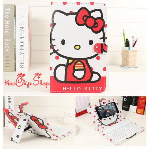Bao da bàn phím bluetooth Hello Kitty