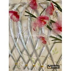 bó 30 sợi kẽm xi số 22 cứng vừa màu trắng làm hoa voan