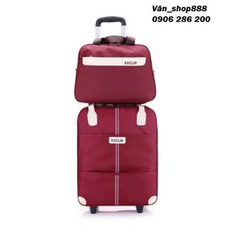 Vali- Vali du lịch- Vali kéo- Túi du lịch- vali vải kéo- Vali quần áo tay kéo + Túi kèm - RE0358 thumbnail