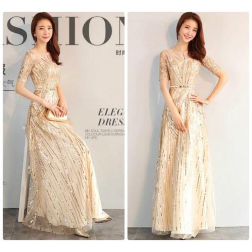 Đầm dạ hội phối kim sa