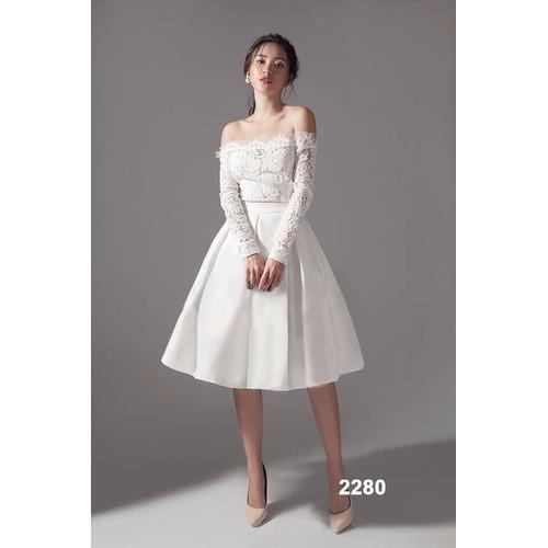 Đầm xòe trắng phối ren tay dài - 7153109 , 13869802 , 15_13869802 , 520000 , Dam-xoe-trang-phoi-ren-tay-dai-15_13869802 , sendo.vn , Đầm xòe trắng phối ren tay dài