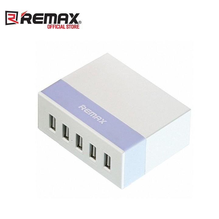 Sạc 5 cổng USB Remax RU-U1 Youth Version max 2.4A - Trắng Tím - SP025028