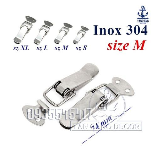 Khóa gài Inox 304 loại trơn Size M 74mm - 7176536 , 13885250 , 15_13885250 , 20500 , Khoa-gai-Inox-304-loai-tron-Size-M-74mm-15_13885250 , sendo.vn , Khóa gài Inox 304 loại trơn Size M 74mm