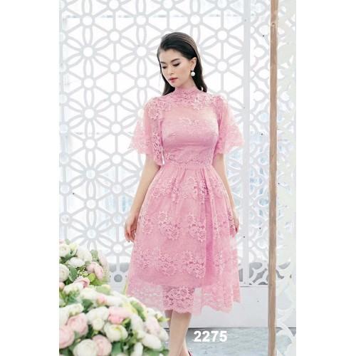 Đầm xòe ren ngắn tay dự tiệc - 7154558 , 13870611 , 15_13870611 , 490000 , Dam-xoe-ren-ngan-tay-du-tiec-15_13870611 , sendo.vn , Đầm xòe ren ngắn tay dự tiệc