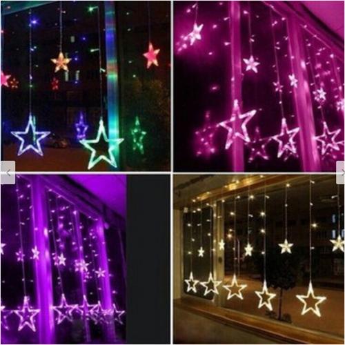 Bộ đèn led rèm mành ngôi sao sáng nhiều màu