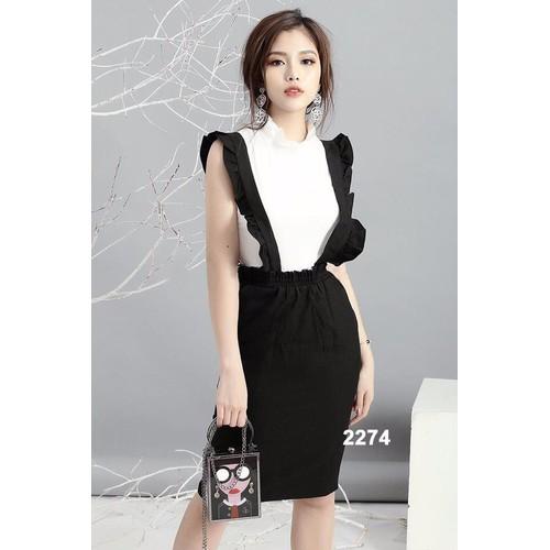 Bộ áo thun váy hai dây dạo phố - 7153548 , 13869931 , 15_13869931 , 420000 , Bo-ao-thun-vay-hai-day-dao-pho-15_13869931 , sendo.vn , Bộ áo thun váy hai dây dạo phố