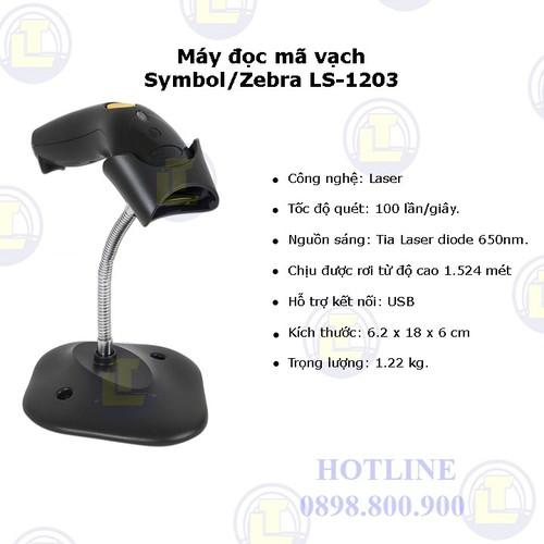 Máy đọc mã vạch Symbol - Zebra LS-1203 - 4618925 , 13870858 , 15_13870858 , 1490000 , May-doc-ma-vach-Symbol-Zebra-LS-1203-15_13870858 , sendo.vn , Máy đọc mã vạch Symbol - Zebra LS-1203