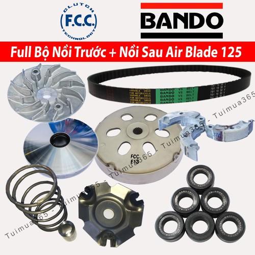Full Bộ nồi trước và Nồi Sau Honda Air Blade 125cc  Bando, FCC