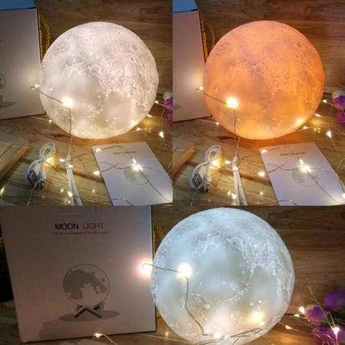 Đèn ngủ mặt trăng size 18cm - 7 màu Chạm