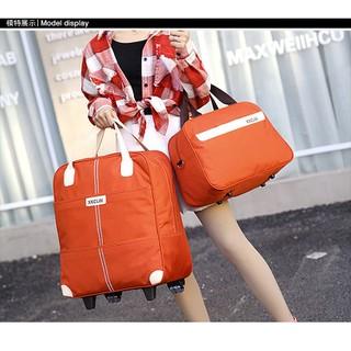Vali kéo- Vali du lịch- Vali kéo- Túi du lịch- vali vải kéo- Vali quần áo tay kéo + Túi kèm - Vali kéo HRE0358 thumbnail