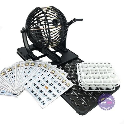 Bộ Đồ Chơi Lồng Quay Lô Tô 75 Số Bingo Neo